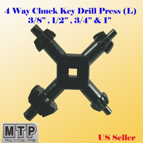 """4 in 1 Universal Drill Chuck Key Sizes Small /& Large Drive 1//4/"""" 3//8/"""" 1//2/"""" 5//8/"""""""