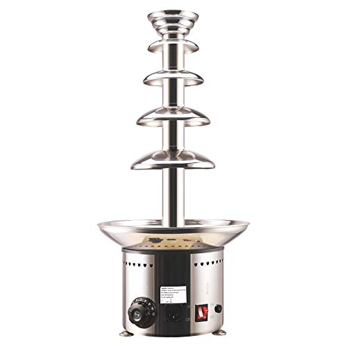 CO-Z 5-Tier Heated Commercial Chocolate Fondue Fountain