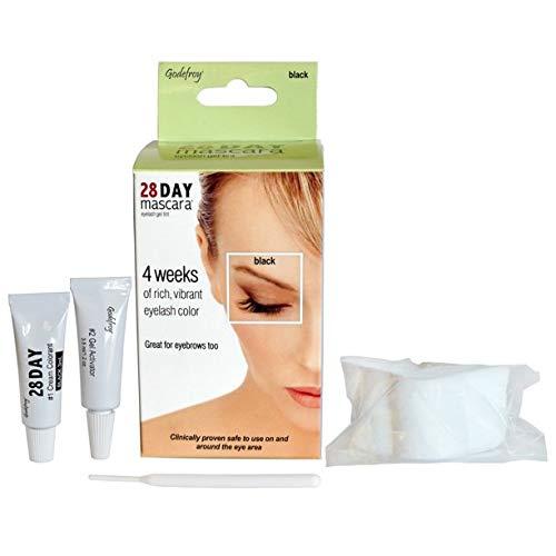 Godefroy 28 Day Mascara Permanent Eyelash and Eyebrow tint Kit Single (Black) by Godefroy