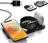 Lopnord Station de Charge sans Fil 4 en 1, Chargeur Magnétique 10 W Compatible avec Apple Watch...