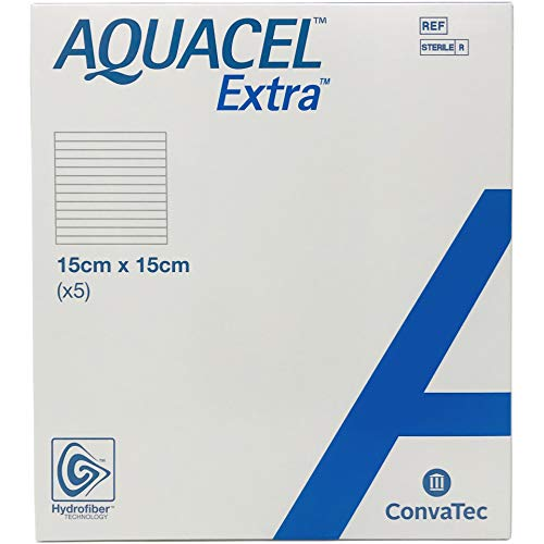New and Improved AQUACEL® Extra™ Hydrofiber® Dressing 6' x 6' (Box of 5 dressings)
