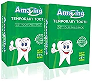 Amazing Temporary Tooth Kit 2 Pack Replacement Temp Dental 25% More Than Others