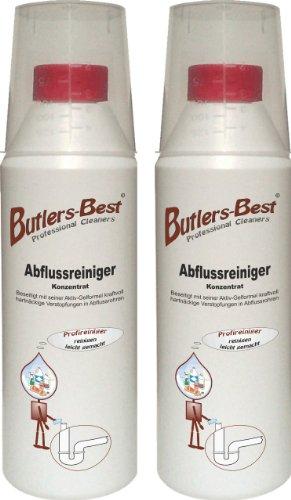 Abflussreiniger - Konzentrat mit Aktiv-Gelformel - biologisch abbaubar - 2 x 500 ml Flasche