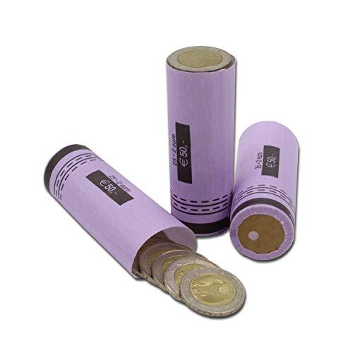 effektivo Papier Münzhülsen für 2 Euro Münzen Inh. 80 Stück