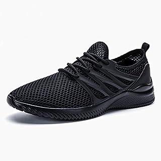 BEESCLOVER Men's Ultra Lightweight Breathable Mesh Sport Walking Shoes Barefoot Mesh Summer Running Sneakers