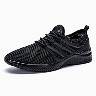 BEESCLOVER Men's Ultra Lightweight Breathable Mesh Sport Walking Shoes Barefoot Mesh Summer Running Sneakers