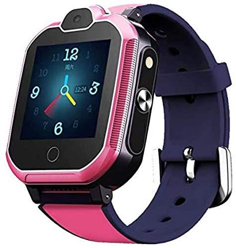 WHXJ 4G GPS Tracker Uhr für Kinder. Smartwatch mit Telefon und Notruf, Deutscher GPS Tracker Shop Pink