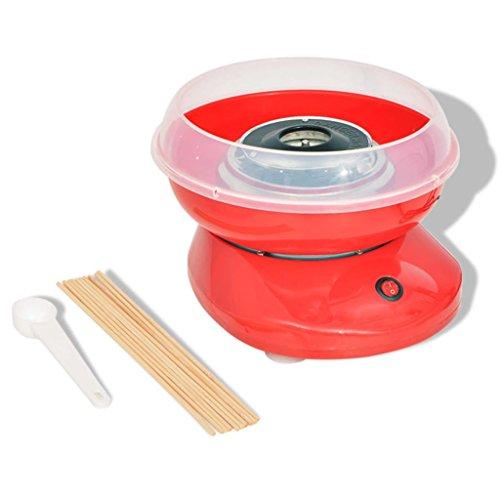 Festnight Máquina de Algodón de Azúcar 480 W roja