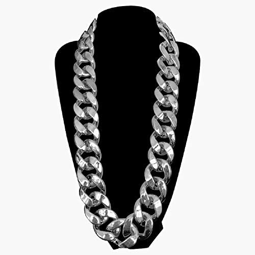 Moca Jewelry Hip Hop Punk Plastic Big Chunky Cuban Link Chain Necklace for Men Women Width 35mm product image