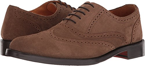 Carlos by Carlos Santana Men's Balmoral Wingtip Oxford, Honey Brown Cal, 9.5 D US