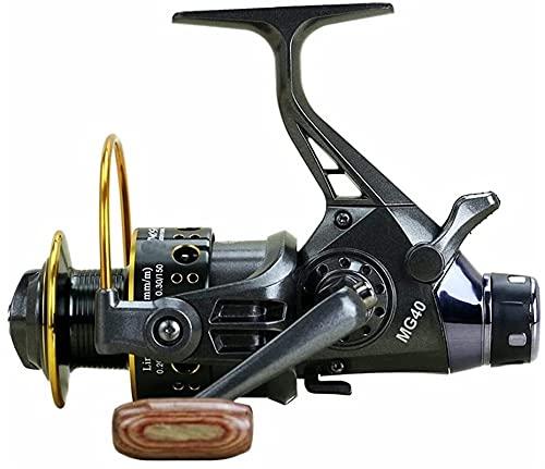 Carrete de Pesca Metal Spinning 10 + 1BB Carpa de Agua Salada Relación de Velocidad de Freno Delantero y Trasero 5.0: 1 5.2: 1 Rollsnownow (Color: Serie 3000)