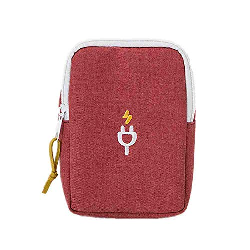 OYHBGK Travel Passport Covers Bag Wallet Portable USB Data Charging Cable Storage...