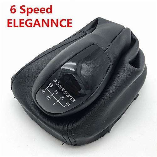 JXSMDG 5 Gang 6 Gang Auto Schaltknauf Mit Leder Kofferraumabdeckung Klassische Avantgarde Eleganz.Für Mercedes Benz C Klasse W203 S203