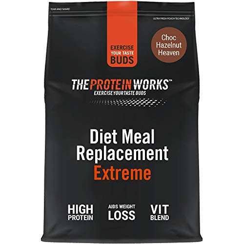 THE PROTEIN WORKS Diet Meal Replacement Extreme | Seen On This Morning ITV | Nutritionally Complete Meal | Immunity Boosting Vitamins | Just Add Water | Choc Hazelnut Heaven | 1 kg