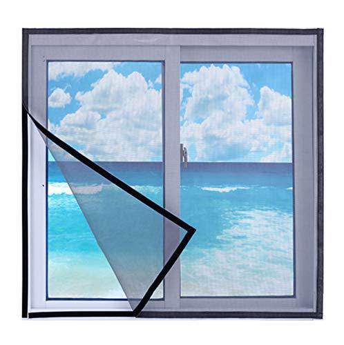 HTDG Vliegenhor voor ramen, dakramen, zwart, met vliegengaas, zelfklevend, voor ramen, vliegengaas voor aluminium ramen, zonder boren, fijnmazig weefsel