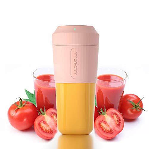 TIM-LI Licuadora Portátil Portátil Exprimidor Personal, Protección De Inducción Magnética Batido De Frutas con USB Recargable Sin BPA, para Oficina/Deportes/Viajes,Rosado