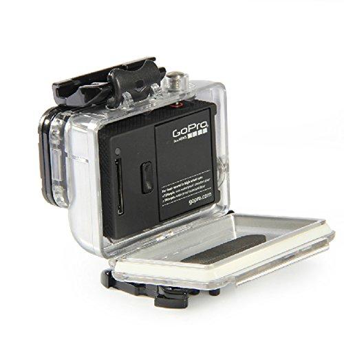 vhbw Unterwassergehäuse passend für GoPro Hero 3 + Plus Silver Edition ActionCam - wasserfeste Hülle für Unterwasseraufnahmen
