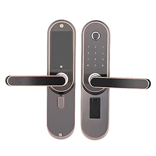 自宅の指紋ドア ロック、木製ドア盗難防止携帯電話 APP リモート コントロール ベッドルーム スタディ 屋内ドア ロック、アパートに適しています