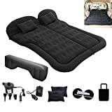MOCW Inflatable Bed Air Mattress Flocking Surface Portable Sleeping Pad Car Travel Bed with Electric Air Pump Kit for Universal Car SUV Truck Home Camping Vacation Travel