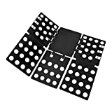 T Shirt Folding Board t Shirts Clothes Folder Durable Plastic Laundry folders Folding Boards flipfold(Mini--Black)