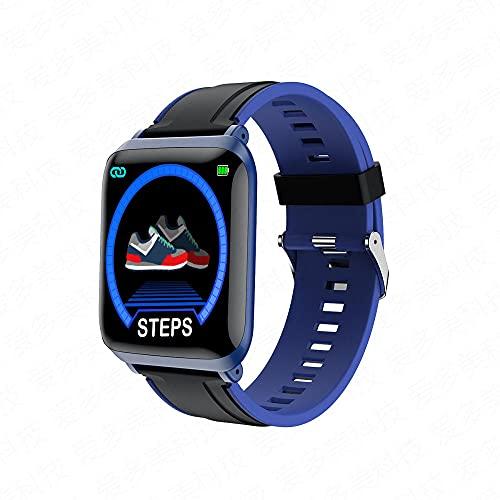 Yumanluo Pulsera Inteligente de Actividad,Pulsera del Control de la Salud, Reloj Elegante Impermeable del Ejercicio-Azul,Podómetro Monitores de Actividad Impermeable