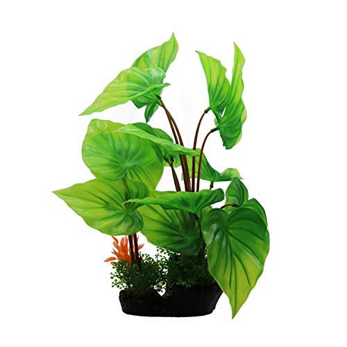 RIFNY Aquarium Pflanzen Deko, künstliche Aquariumpflanze, Plastikpflanzen Fuer Aquarium Dekoration 1-30cm-Green