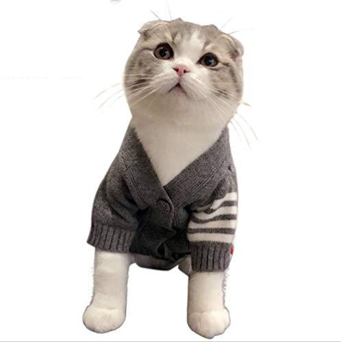 DLwbdx Kätzchen kleidet Haustierkatzenkleidung warme Strickjacke des Herbstes und des Winters warme Katzenstrickjacke-Kurzstrickjacke der Paparazzi