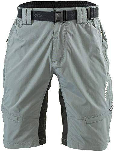 SILVINI Radhose Herren Rango mit 6 Taschen für Radfahren und Andere Outdoor-Aktivitäten Grau/Limette - L
