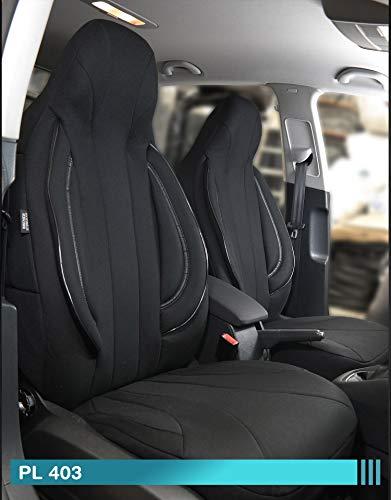 Maß Sitzbezüge kompatibel mit Opel Adam Fahrer & Beifahrer ab BJ 2013 Farbnummer: PL403
