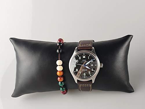 2020 YXWEI Envío Libre de la PU Superior o de Terciopelo Pulsera Grande de visualización Almohada sostenedor del Reloj del Brazalete del Organizador de la joyería del Estante de exhibición del