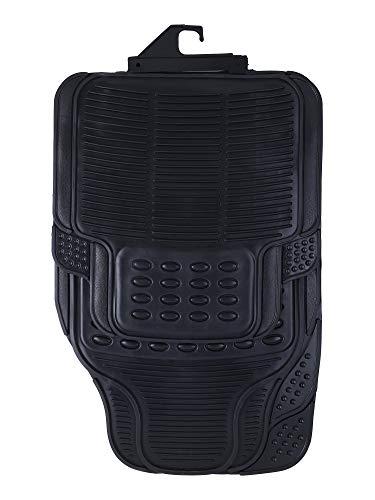 Suzec Car Foot Mat Floor Mat Black PVC Rubber Universal Fit (Black)
