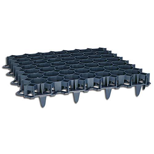 Wohnkult 50 Stück Rasengitter aus Kunststoff schwarz 50 x 50 x 4 cm Rasengitterplatten Rasenwaben Bodenwaben Paddockplatten