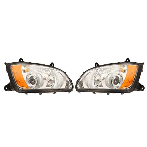 High Soar Headlight Assembly Pair ‖ Truck Headlight Projector Pair Passenger & Driver Side for Kenworth T660 T600 T370 T270 T170 T470 T440 T700 (A Pair)