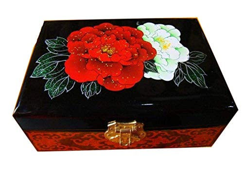 Cajas de joyería de, 1 Caja de joyería de Laca, Caja de joyería Pintada a Mano, Caja de Almacenamiento Chino