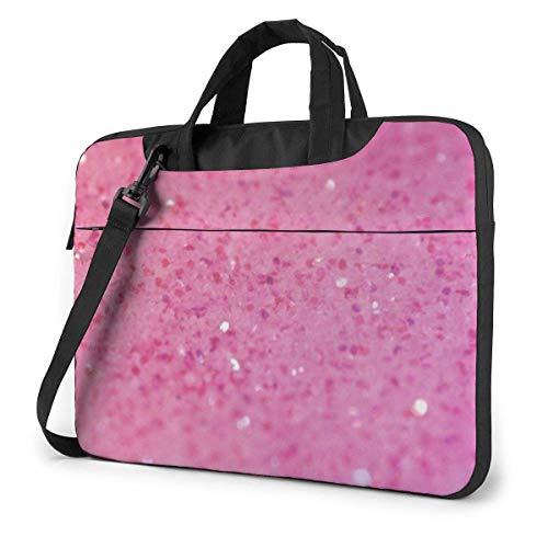 Pink Glitter Pattern Laptop Sleeve Case 13 Inch Computer Tote Bag Shoulder Messenger Briefcase for Business Travel