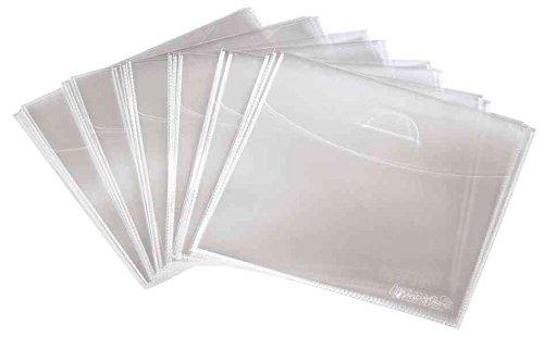 CD-/DVD-Schutzhüllen, PP, 75er-Pack, Transparent (2, Transparent)