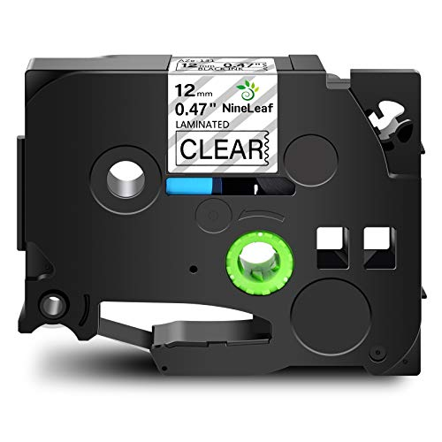 NineLeaf 20 Pack Compatible for Brother TZ TZe TZe-131 TZe131 TZ-131 TZ131 Label Tape 12mm 1/2'' Black on Clear Laminated Labeling Refill Work with P-Touch PT-D210 PTD400AD PTH110 PT-D600 Label Maker