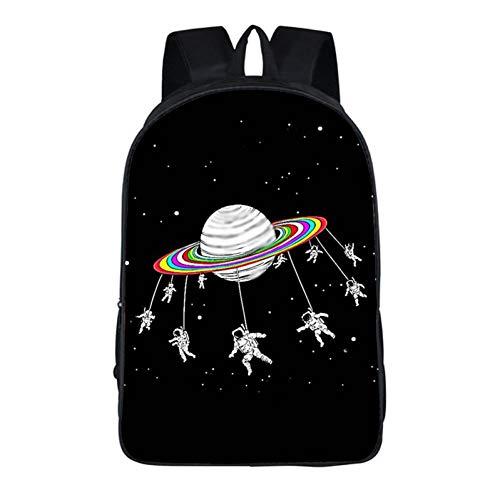 Jejhmy Mochila de Estudiante Cosmic Star poliéster portátil, 42 * 29 * 16 cm, C Moda Creativa Casual Viajes al Aire Libre