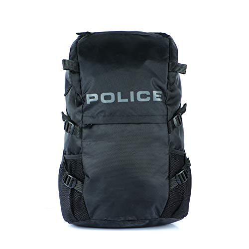 Police Walt Laptop Backpack Business Office College Travel Bags for Men Fits Up to 15 inch Laptop Notebook - Black