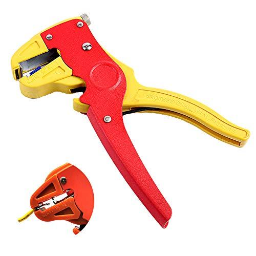 Alicate Pelacables Automático para Pelar Herramienta de Alicate Pelacable de Cable Autoajustable Pelacables de Alambre para Corte Cable de Electricidad para Alambre 0,2-4mm² para Reparaciones