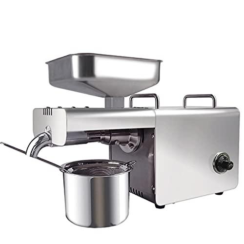T-CAT Spremiagrumi elettrico in acciaio inox, 400 W, con arachidi di di noce e colza, controllo della temperatura, per olio e spremitura a freddo e caldo