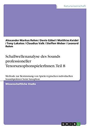 Schallwellenanalyse des Sounds professioneller TenorsaxophonspielerInnen. Teil 8: Methode zur Bestimmung von Spieler-typischen individuellen Soundspektren beim Saxophon