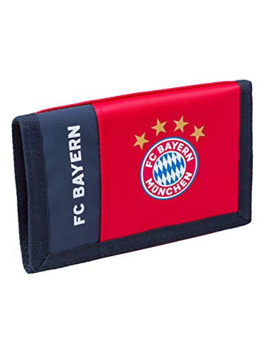 FC Bayern München Geldbeutel rot, offizielle FCB Geldbörse, Portemonnaie für Fans