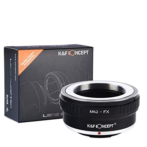 K&F Concept Adaptador para Montar Lentes M42 a cuerpos de cámara Fujifilm Fuji X-Series X FX Mount