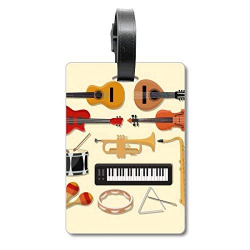 Etiqueta de identificación para Piano eléctrico, trombón, Guitarra, música, Crucero, Maleta, Bolsa,...