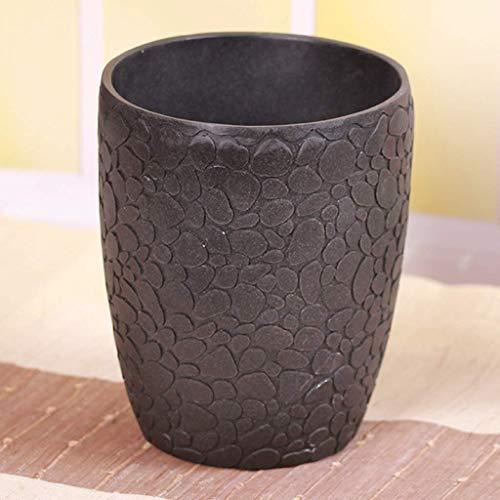 BDD Cubo de Basura de Resina para el Hogar sin Tapa Cubo de Encimera Escritorio Pequeño Barril de Alenamiento Cubo de Flores 4L Baño, Oficina, Cocina