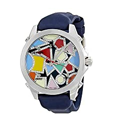 Five Time Zone Multi-Color Dial Diamond Unisex Watch JCM-133DA