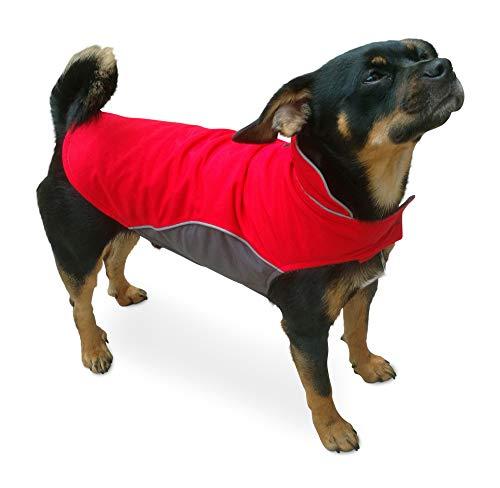 Hundemantel Warm, Innen mit Fleece, Hochwertiges Material, Atmungsaktiv und Wasserabweisend Wintermantel/Winterjacke (Größe 12) - 9