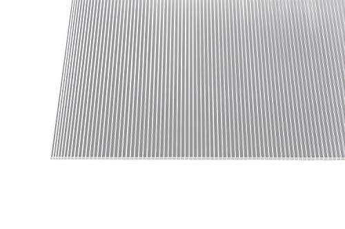 Stegplatten, Hohlkammerplatten, Doppelstegplatten, Gewächshausplatten, 6 mm stark, klar, 1500 mm x 700 mm,