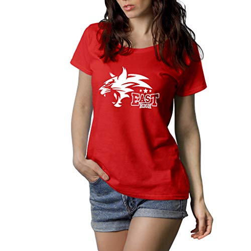 Fanta Universe East High - T-Shirt Donna - 100% Cotone (S, Rosso)